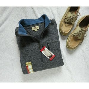 NWT Men's Woolrich Quarter Zip Fleece Pullover XL